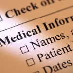 Close-up of medical records