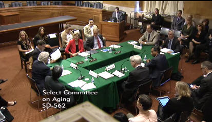 U.S. Senate Special Committee on Aging round table with Dr. Kirkland and other scientists