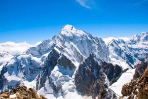 top of mountain peak