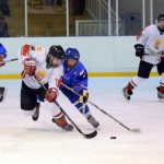 youth hockey game being played