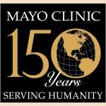 Mayo Clinic: 150 años de servicio a la humanidad, imagen del planeta 150th Sesquicentennial Logo