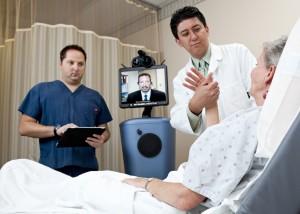 telemedicine, telestroke in Arizona with patient in hospital bed