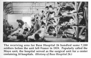 Several soldiers on bunks and cots.