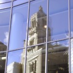 Mayo Plummer Building Reflecting in Gonda Windows
