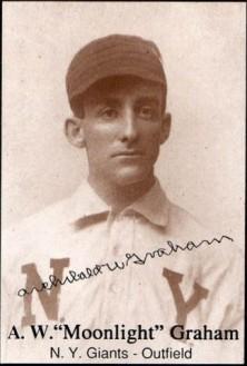 "Baseball card of A.W. ""Moonlight"" Graham, New York Giants outfielder."
