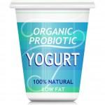 Etiqueta nutricional del yogurt probiótico