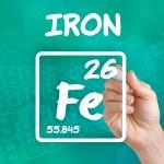 Símbolo del hierro como elemento químico