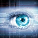 close-up high-tech image of human eye