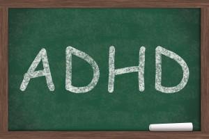 Chalkboard with writing - ADHD