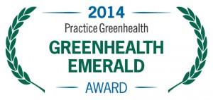 Greenhealth Emerald Award 2014 logo