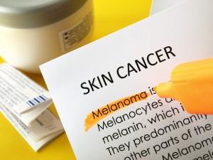 Word cloud definition for skin cancer - melanoma