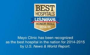 Insignia de la calificación de los mejores hospitales de EE. UU.