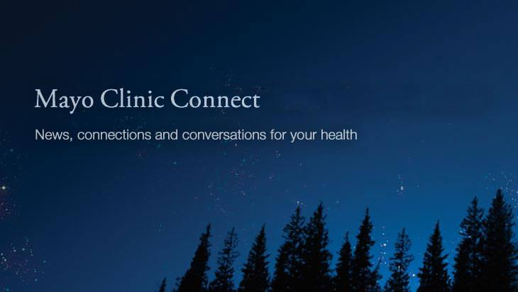 Mayo Clinic Connect blog image with night sky and stars