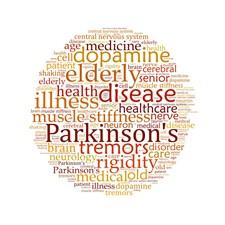 Nube de palabras para la enfermedad de Parkinson