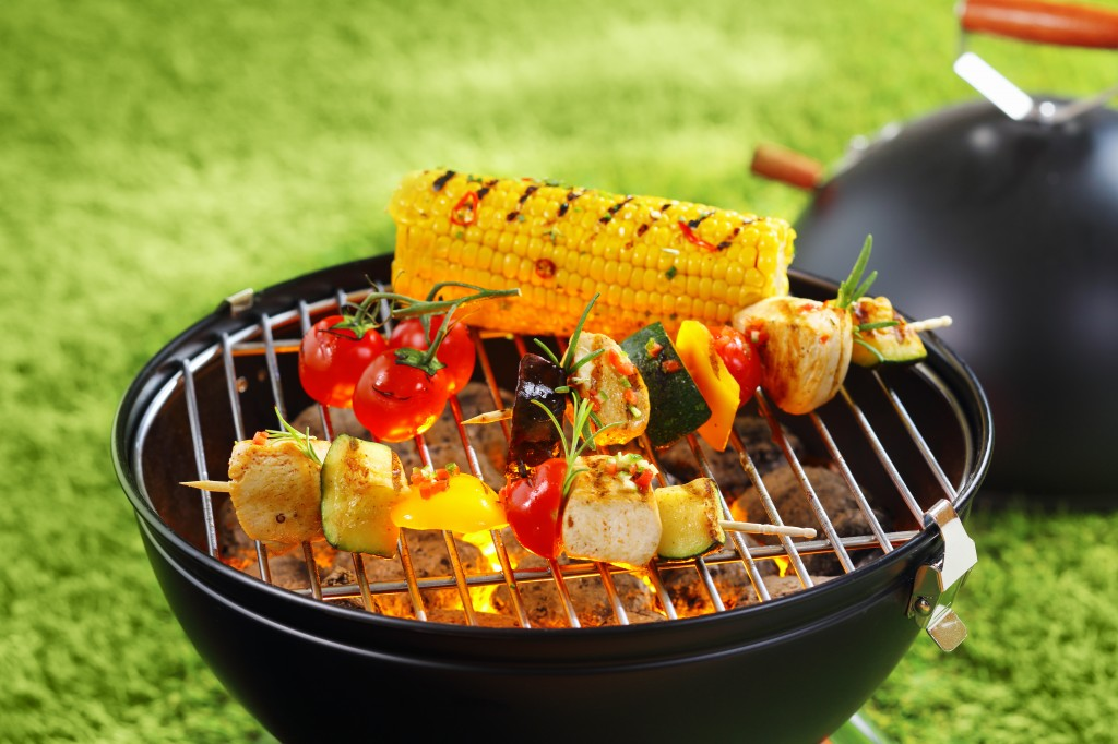 vegetables on a bar-b-que grill