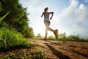 woman on a training run