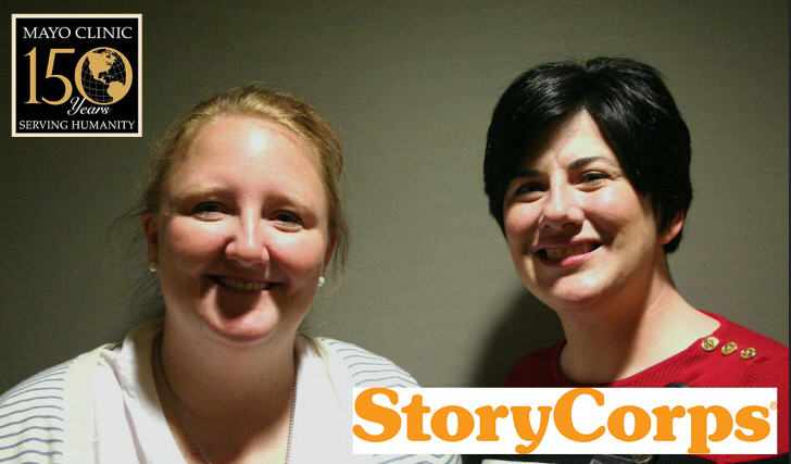 Brenna pictured with Kimberly for StoryCorps interview