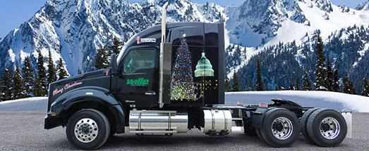 Christmas truck for U.S. Capitol tree