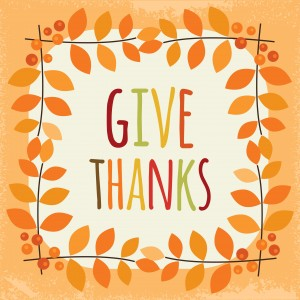 illustration that says Give Thanks