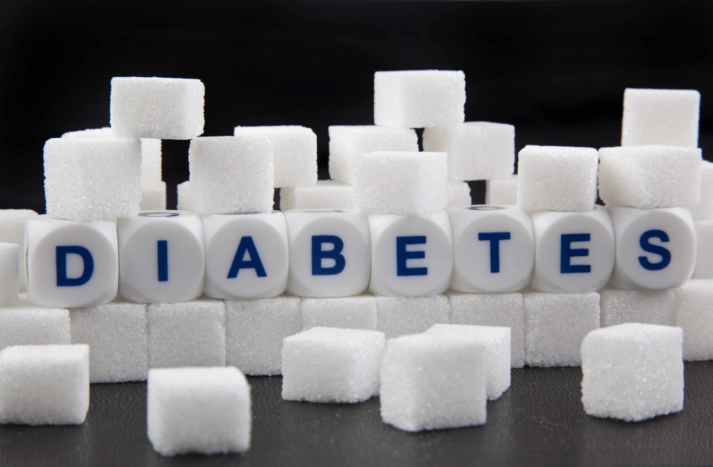 sugar cubes representing glucose and diabetes