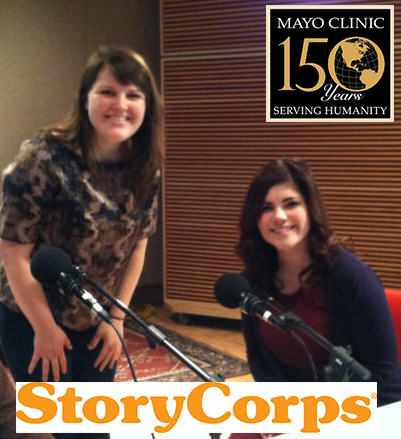 Christina in StoryCorps studio