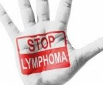 """Image of hand with """"Stop Lymphoma"""""""