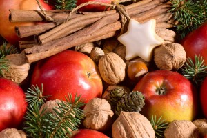 apples and nuts for healthy holiday eating