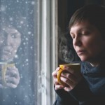 sad woman with depression, loneliness or seasonal affective disorder