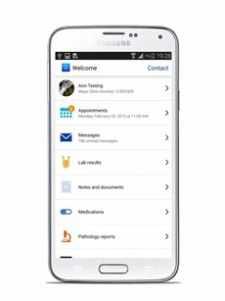 Samsung: S5 página de inicio para el paciente