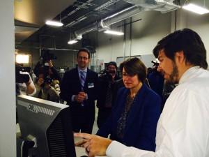 Sen. Amy Klobuchar tours Mayo Clinic Biobank