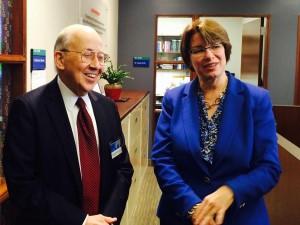 Sen. Klobuchar with Dr. Richard Weinshilboum- CIM Biobank