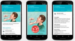 Google image of medical conditions on mobile phone