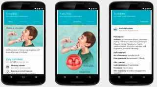 Imagen en Google de un celular con información sobre enfermedades