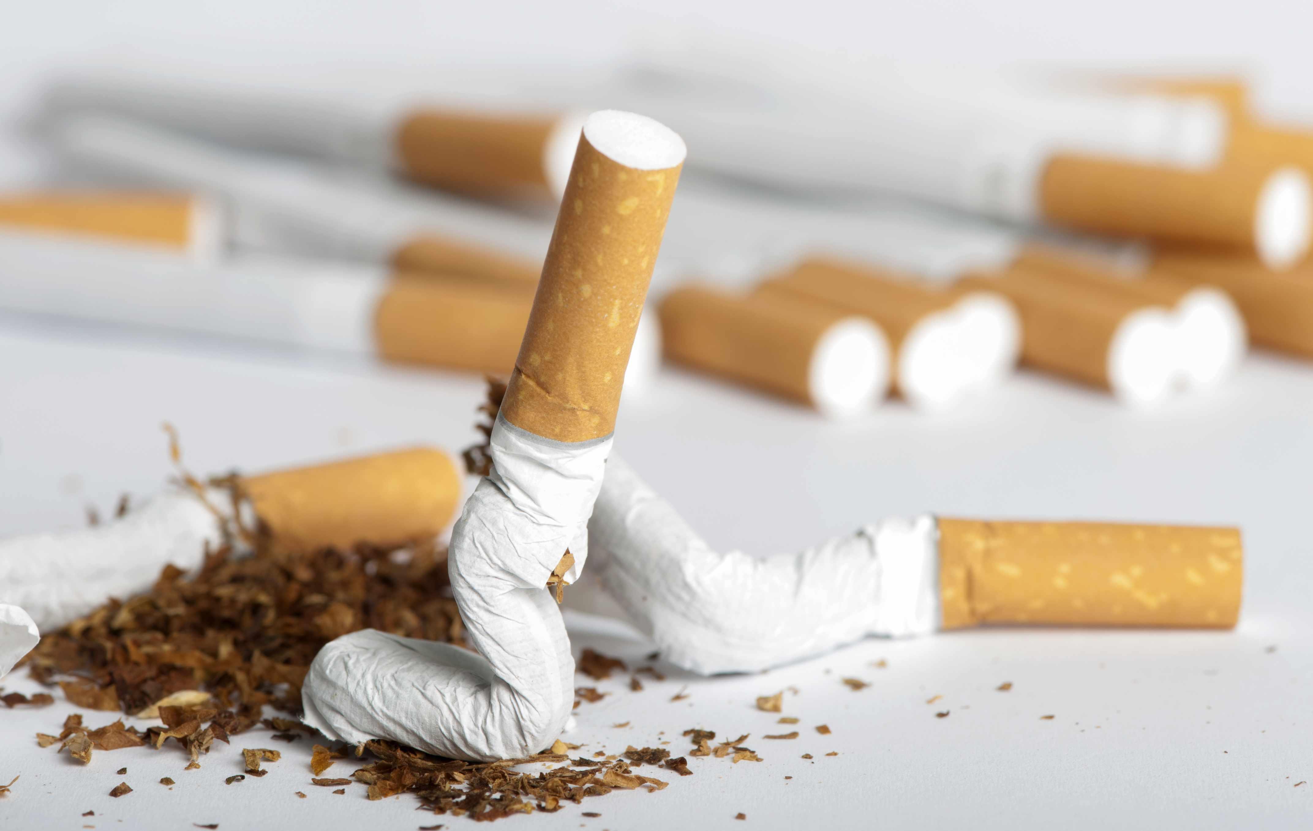 crumpled cigarette, smoking