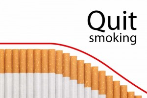 Image of cigarettes with Quit Smoking title