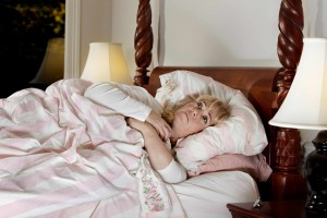 mature woman wide awake in the middle of the night