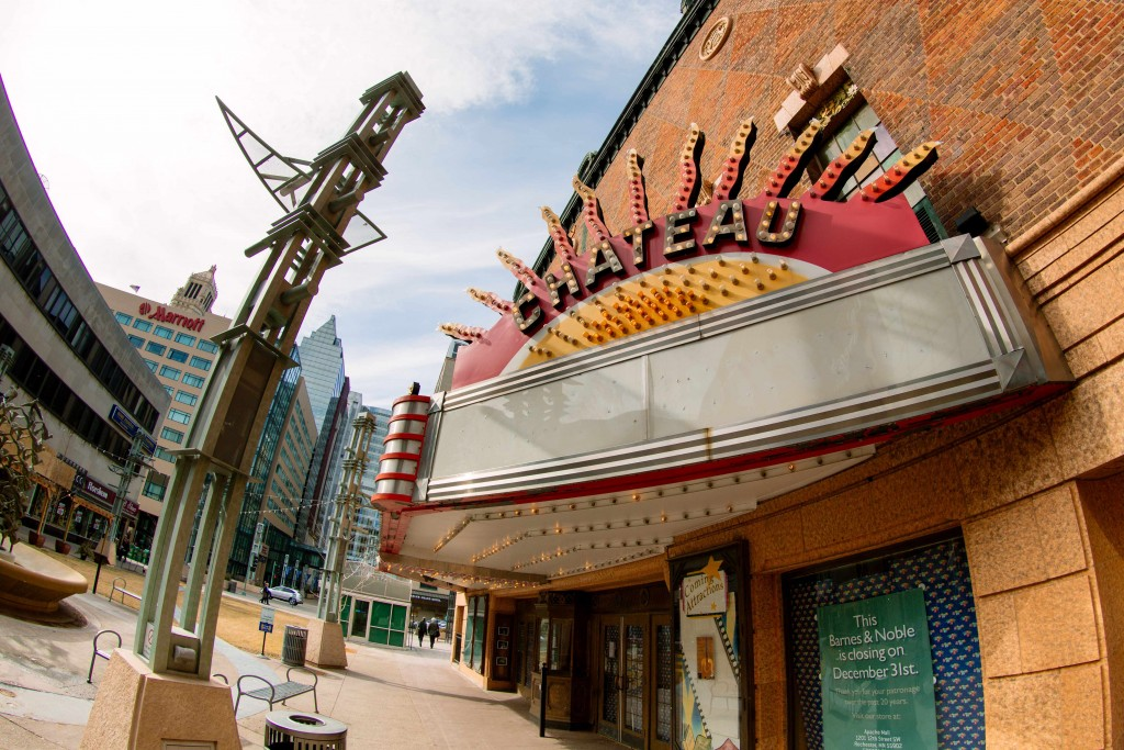Chateau Theatre building on Peace Plaza in downtown Rochester