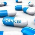 Ilustración de unas pastillas con la palabra cáncer