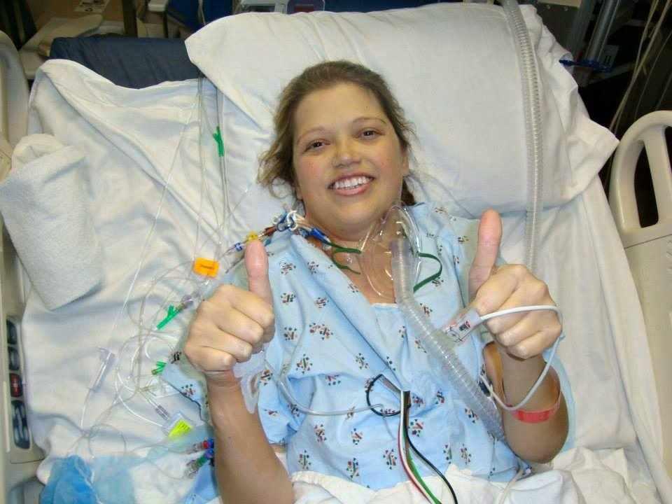 Double organ transplant patient Courtney Kidd