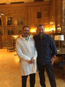 Mayo Clinic cancer researcher Stephen Russell, M.D. Ph.D.  with VICE CEO host Shane Smith