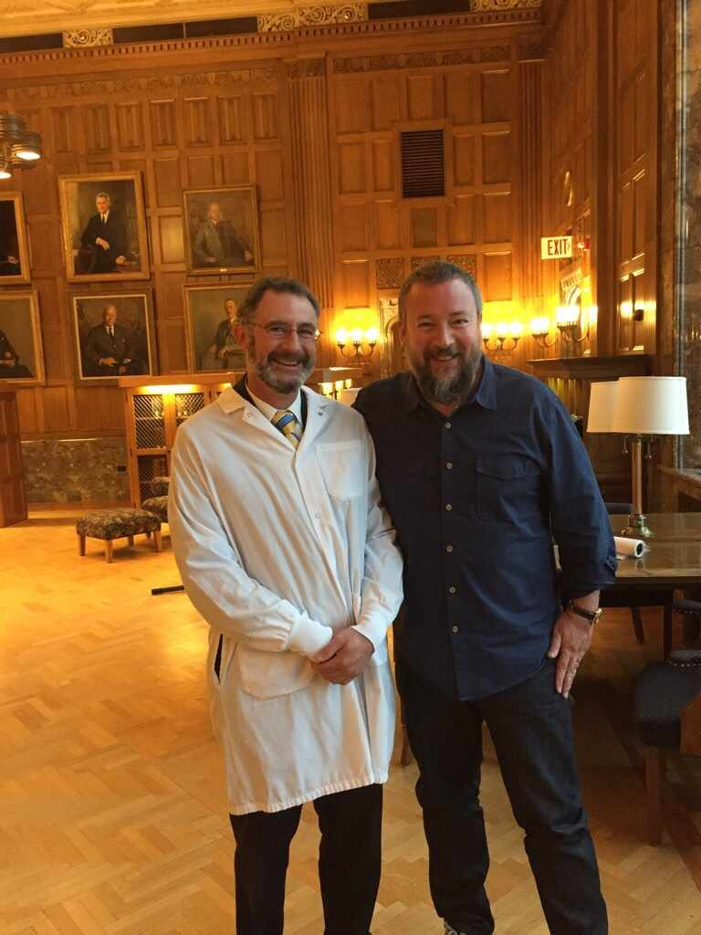Mayo Clinic cancer researcher Stephen Russell, M.D. Ph.D. with VICE CEO Shane Smith