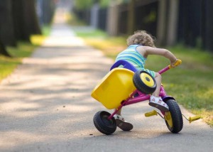 Small girl on bike