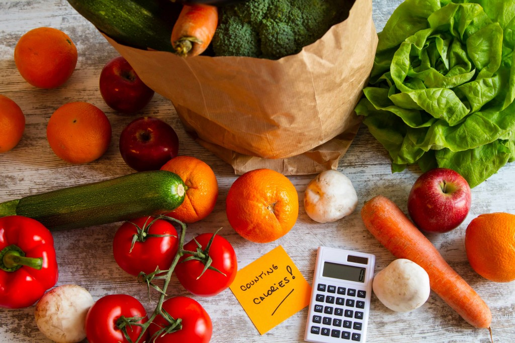vegetable and calorie counting calculator
