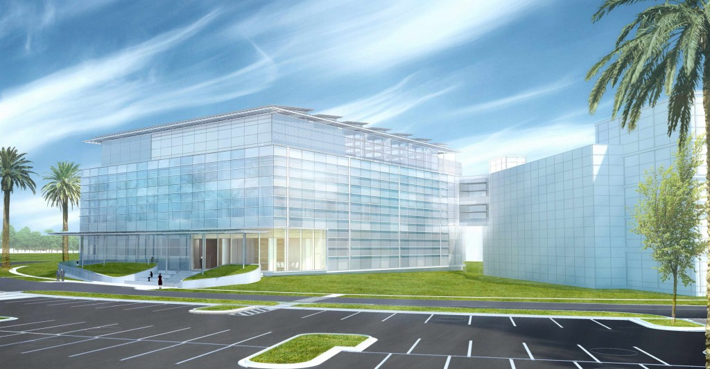 A rendering of the lung restoration center on the Mayo Clinic campus in Jacksonville, Florida.