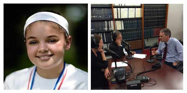 Shannon O'Hara's photo and Dr. Richard Vile being interviewed on Mayo Clinic Radio