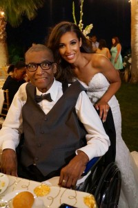 Andre Pearson with his daughter the bride and the wedding reception