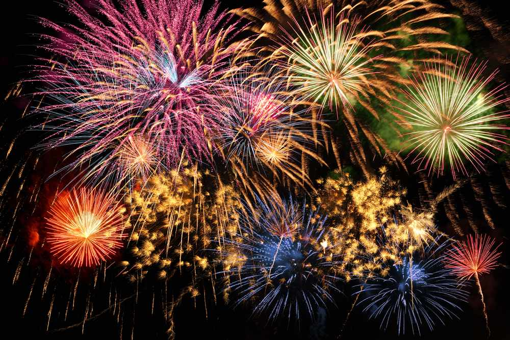 coloful fireworks celebration