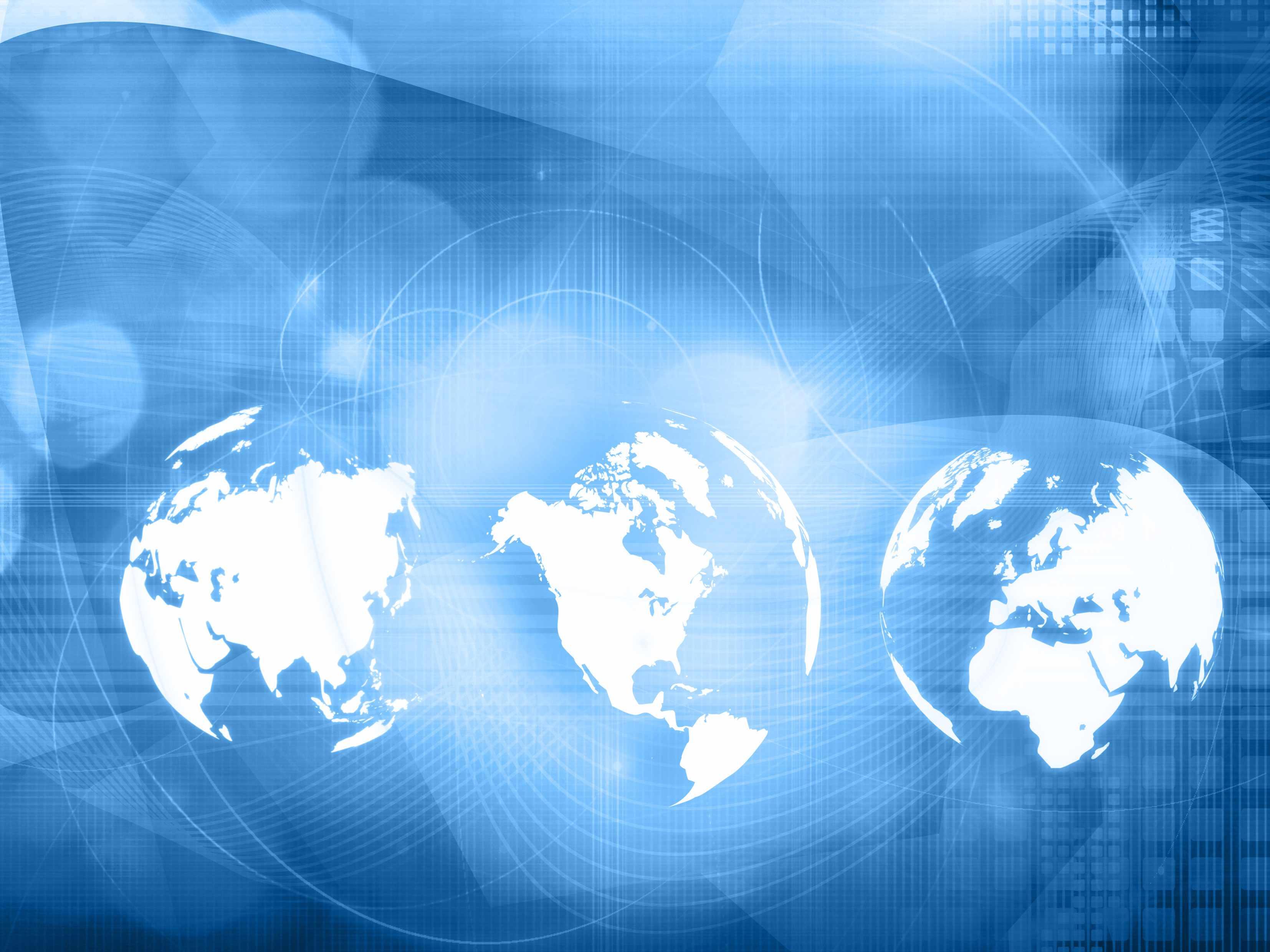 global digital image of the world, social media