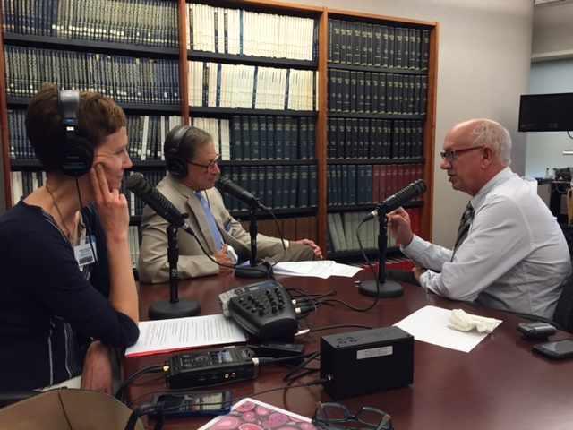 Dr. John Bachman being interviewed on Mayo Clinic Radio