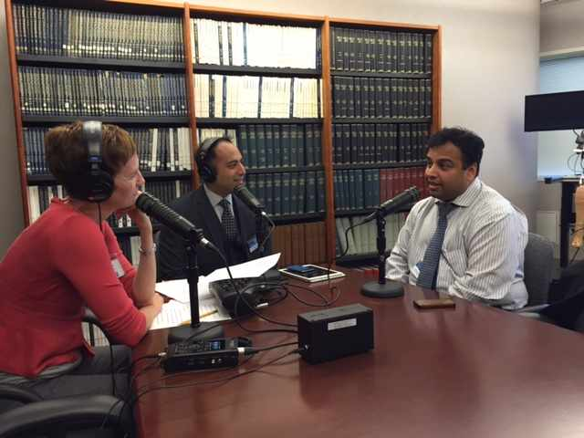 Dr. Purna Kashyap being interviewed on the Mayo Clinic Radio program